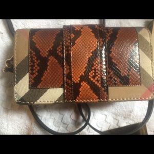 239311a93009 Burberry Bags - Burberry patchwork snakeskin crossbody bag
